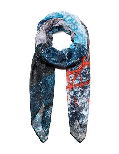 Desigual Damen Foulard Galactic Denim Schal, Blau (Jeans 5006), One Size (Herstellergröße: U)