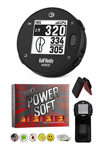 Great Deal! Golf Buddy Voice X Golf GPS/Rangefinder Bundle with 1 Dozen Volvik Golf Balls, 1 Belt Cl...