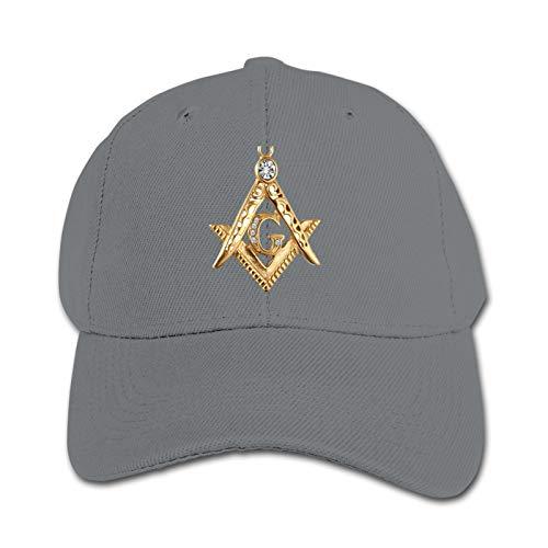 Masonic Symbol Unisex Kinder Mütze Sonnenhut Hip Hop Kappe Verstellbare Sportkappe Teen Hut Kinder Entenschnabel Kappe
