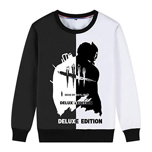 Herren Damen Sweatshirt, Dead by Daylight Adult Rollkragenpullover, Kettensägenmaske Butcher Colorblock Herbst Und Winter Oberteile Teen Plus Velvet Padded Shirt