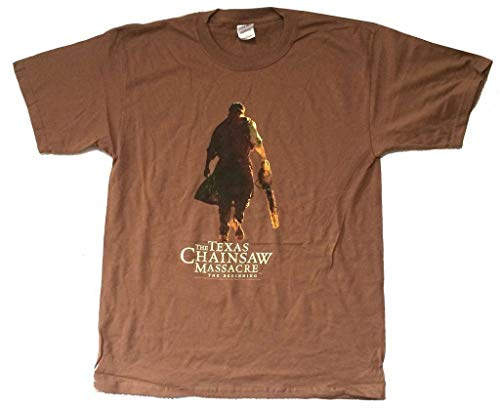 Texas Chainsaw Massacre Beginning Birth of Fear Brown T Shirt New