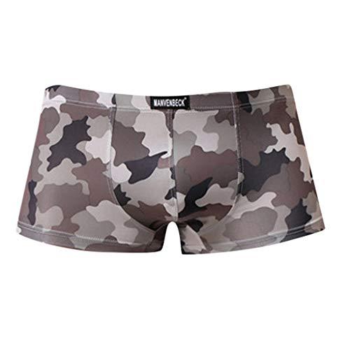 SoonerQuicker Skinny Ondergoed voor heren, zomer, sport, korte sexy, dunne shorts voor heren, bonte broek, voor vrije tijd, stretch, fitness, heren, strand, elegant, outdoor, slim fit