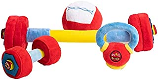 WOD Toys Baby Complete Plush Set with Rattle - Safe, Durable Fitness Toys for Newborns, Infants and Babies