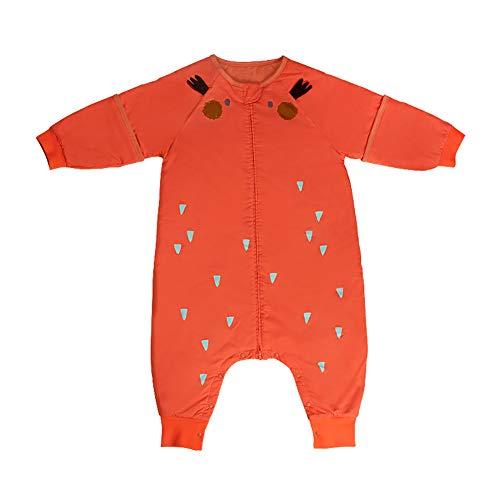 Bebamour Anti-Kick Baby Slaapzak Veilige Nachten Katoen Baby Slaapzak 2.5 Tog 0-18 Maanden en Boven Leuke Baby Jongen Meisjes Slaapzak Baby Wrap Blanke S(75-90 cm) ORANJE