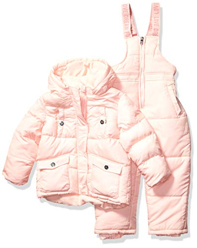 Steve Madden Girls Girls' Toddler 2 Piece Snowsuit Set, Classic Blush, 2T
