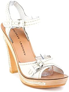 Chinese Laundry womens Ankor platforms sandals, White, 7 M US