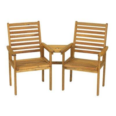 Napoli compañero 2plazas asiento de amor de Acacia–hecho de madera de acacia es resistente y duradero, para años de diversión.