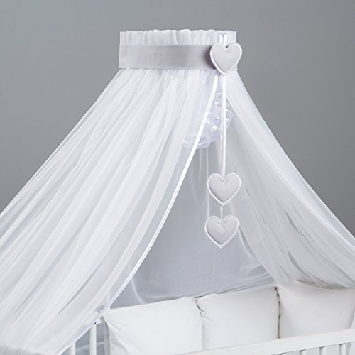 3-teilig: Moskitonetz Baby, bunte Dekoration und Himmelhalter entworfen von Dreamzzz