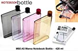 SR Global A5 Size Memo Bottle/Notebook Style Flat and Ultra Slim Portable Bottle