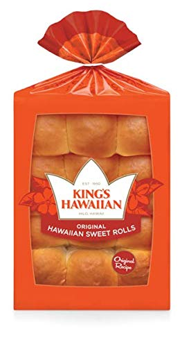 King's Hawaiian Original Hawaiian Sweet Rolls 12 CT (Pack of 3)