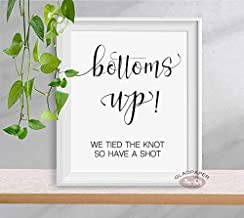 Bottoms Up Wedding Sign, We Tied the Knot So Take a Shot wedding sign, Fun Bar Sign, Funny Bar Sign, Funny Wedding Signs