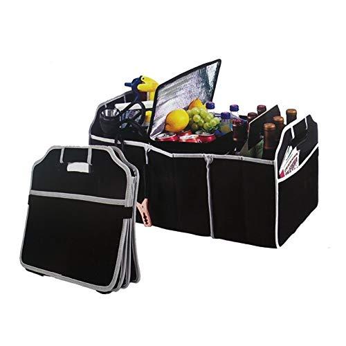 Rangement de siège Organisateur de sac de rangement de coffre de voiture automobile, boîte de transporteur de fret de siège arrière de coffre-fort de coffre-fort de voiture de pliage bien rangé, sac d