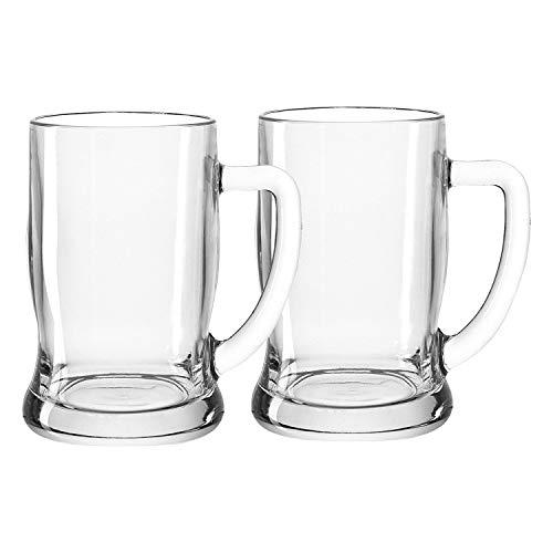 LEONARDO 049458 Bierseidel - Taverna - Glas/klar - 0,5l - Spülmaschinefest- 2 er Set