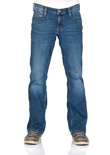 MUSTANG Herren Jeans Hose Oregon Bootcut Männer Jeanshose Denim Stretch Baumwolle Blau Schwarz W30 W31 W32 W33 W34 W36 W38 W40, Größe:W 33 L 36, Farbe:Medium Blue (1006280-702)