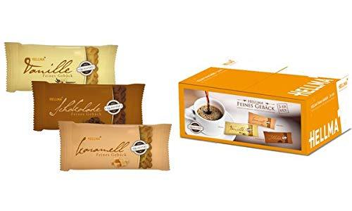 HELLMA Feines Gebäck 3er Mix, einzeln verpackt, im Karton, Sie erhalten 1 Packung, Packungsinhalt: 3 er Set
