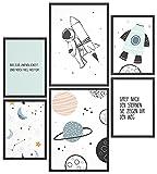 Papierschmiede® Kids Mood-Poster Set Astronaut | Bilder
