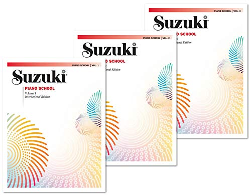 Suzuki Piano School New International Edition Piano Book and CD Set (3 Books and CD) - Volume 1, Volume 2, Volume 3