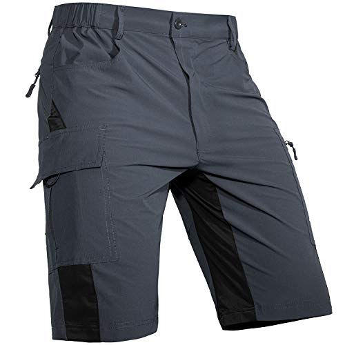 Cycorld MTB Hose Herren Radhose, Mountainbike Hose Fahrradhose Herren Kurz, Schnelltrocknende MTB Shorts Radlerhose Herren Atmungsaktiv Outdoor Bike Shorts (Neueste Grau, L)