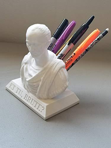XCJD Julius Caesar Pen/Pencil Holder, Julius Caesar Office Desk Accessory