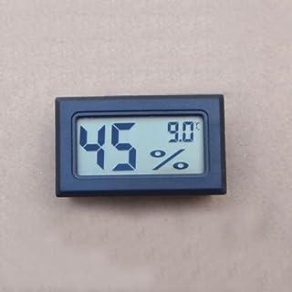 AuCatStore(TM) Meter Gauge Digital Display Black Monitor Thermometer Hygrometer Humidity LCD