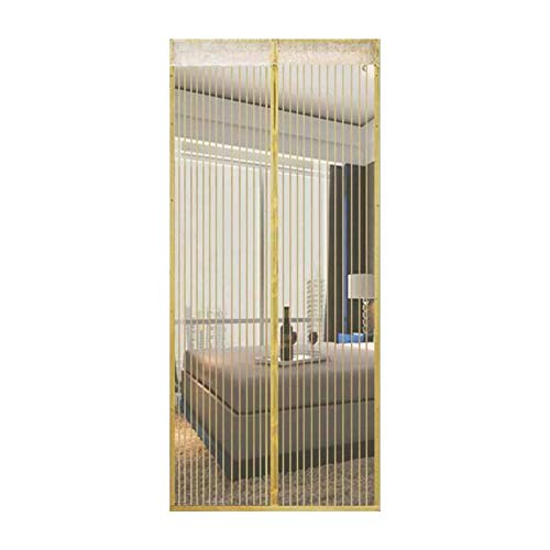 Insectenwerende horren magneetgordijn voor balkondeur, magneet, zonder boren, Frans deurnet, schuifdeur, visboot, garage 140x210cm(55x83inch) beige