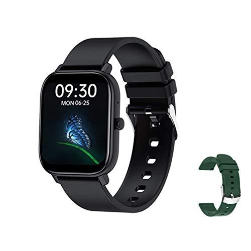 XXH Smart Watch GW22, Pantalla de 1.6 Pulgadas para Llamadas Bluetooth Masculinas y Femeninas, frecuencia cardíaca y presión Arterial, Reloj Deportivo Multifuncional Inteligente,E