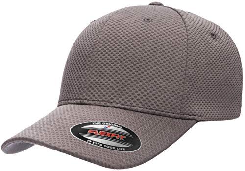 Flexfit Herren Cool & Dry 3D Hexagon Jersey Mütze, dunkelgrau, L/XL