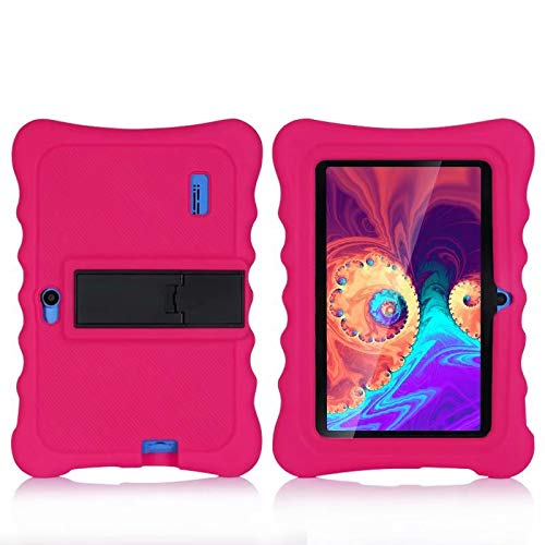 AIJAKO Haehne 7 Inch/YUNTAB 7 Inch Tablet PC Silicone Case, 7 Inch Kids Tablet Case for YUNTAB 7/Haehne 7/Dragon Touch 7 Y88X Pro/JINYJIA 7/SIXGO 7/CARRVAS Kids Tablet 7/Shumo 7/Nrpfell 7, Rose Red