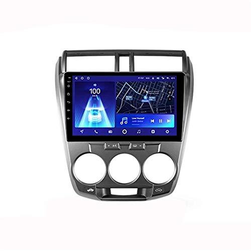 Android 10.0 Car Stereo Sat Nav Radio para City 2008-2014 Navegación GPS Unidad Principal Pantalla táctil Reproductor Multimedia MP5 Receptor de Video con 4G WiFi SWC Carplay