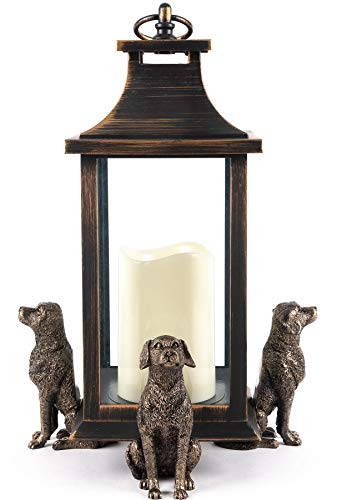 Potty Feet Labrador Dog Figures Plant Pot Feet - Planter Support - Handmade Decorative Ornaments - 3pcs