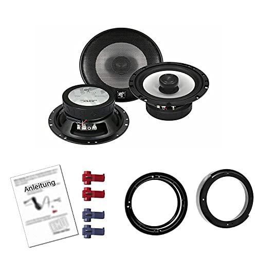 Hifonics AS-62 Auto Lautsprecher mit Einbauset passend für VW Volkswagen Lupo...