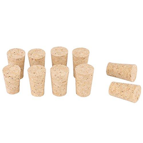 2Types 10PCS Tappi conici in sughero naturale Tappi in legno per vino/birra(Bouteille de bière 20 * 15 * 35mm)