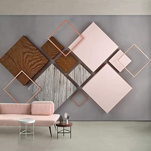 XIAOHUKK 3D self-Adhesive Wallpaper Large Mural Three-Dimensional Geometric Square Lattice Modern Large Mural self-Adhesive Modern Home Decoration Living Room Dining Room Bedroom
