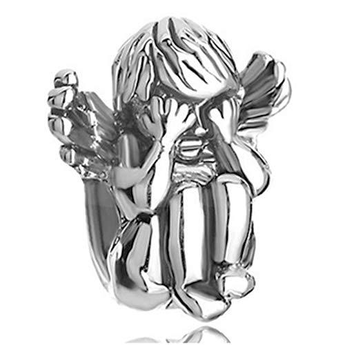 Colgante De Plata De Ley 925, Cuentas Deslizantes, Ojos De Mongolia, Cuentas De Ángel, Abalorios De Pandora, Pulsera Y Cuentas Para Hacer Joyas, Regalo De Cumpleaños