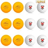 Number-one Ping Pong Balls 3 Star 40MM 2.8g ABS Professional Table Tennis Balls 12 Pack White and Yellow...