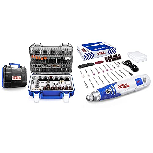APEXFORGE Rotary Tool Accessories Kit with 3.7V 600mAh Cordless Rotary Tool
