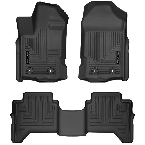 Husky Liners 94101 Weatherbeater Front & 2nd Seat Floor Mats Fits 2019 Ford Ranger SuperCrew