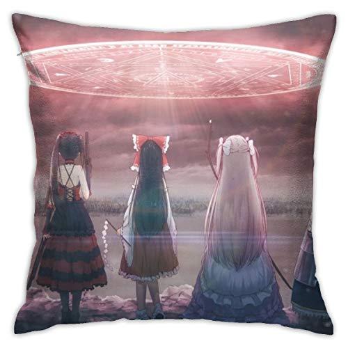 CVDGSAD Anime Niñas Fecha A Live Fate Series Espada Arte Online T Protectores de almohada estándar Fundas de almohada