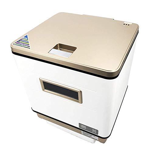 Wghz Interne kleine Geschirrspülmaschine aus Edelstahl 304, kompakte Spülmaschine für die Arbeitsplatte, 360 ° Azimut-Waschgeschirr, Büro für kleine Küchen in der Wohnküche