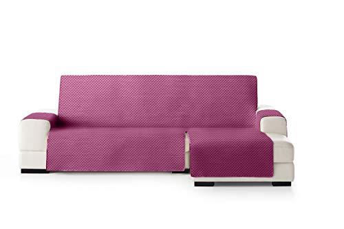 Eysa Oslo Salva, Microfiber, C/2 Fuchsia-Grigio, Penisola 290 cm. Adatto per divani da 300 a 350cm