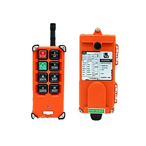 Milkvetch Interruptores de Control Remoto Industrial de 380V GrúA de ElevacióN Control de GrúA 1 Transmisor + 1 Receptor F21-E1B