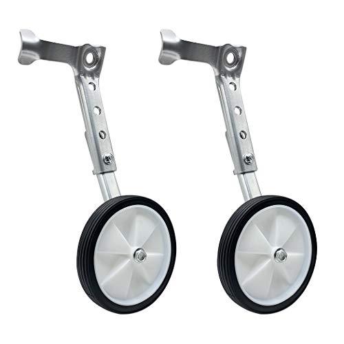 Mediawave Store - Coppia di Rotelle Stabilizzatori per da Allenamento Bicicletta tg. 16' a 24' pollici, Rotelle Universali, Bici con Cambio o Normale Ruote Supplementari laterali per Bicicletta