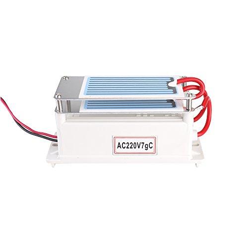 KKmoon Generador de cerámica portátil del ozono del generador 7g / h del ozono integrado del agua del ozonizador del purificador del aire para la fábrica química