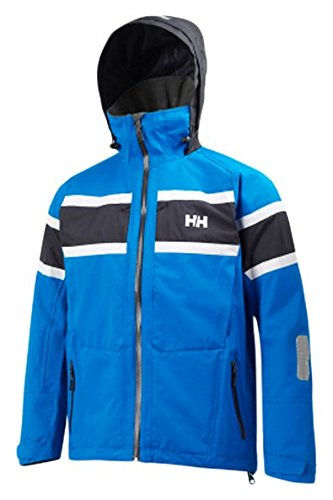 Helly Hansen Men's Salt Waterproof Windproof Breathable Sailing Rain Jacket, 535 Racer Blue, X-Large