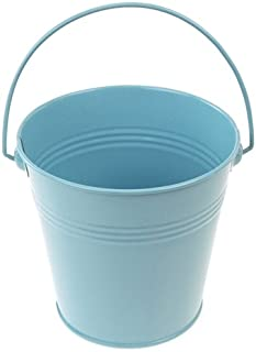 Homeford Firefly Imports Metal Pail Buckets Party Favor, 5-Inch, Light Blue, 5
