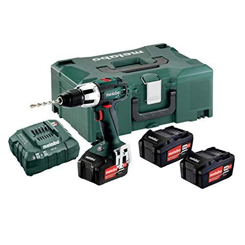 metabo 602103960 602103960-Taladro percutor a bateria 18V / 3X 4, 0 Ah Li-Ion SB 18 LT con maletín, 0 W, 240 V, verde
