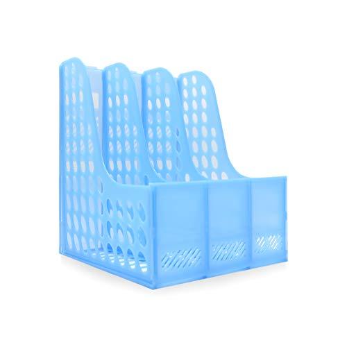 takestop Portadocumentos de escritorio de plástico rígido con 3 bandejas para casa, oficina, escuela