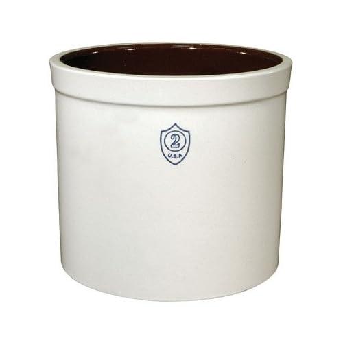 864c9b43d48 Amazon.com: Ohio Stoneware 02436 2 gallon Bristol Crock, Small, White:  Utensil Organizers: Kitchen & Dining