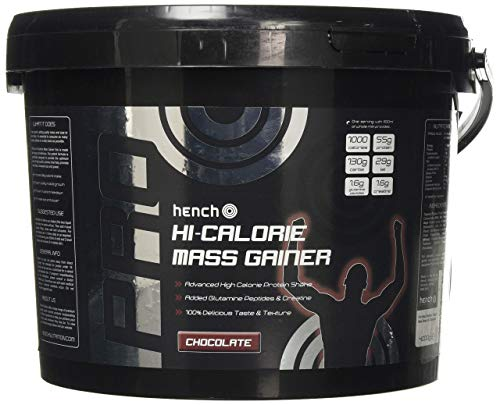 4KG HENCH NUTRITION HI-CALORIE MASS GAINER / WEIGHT GAIN WHEY PROTEIN POWDER - CHOCOLATE