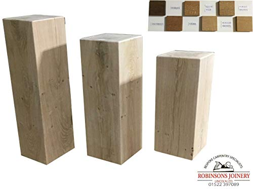 Oak Side lamp end Table Set of Three Solid Hand Made in The UK Waxed